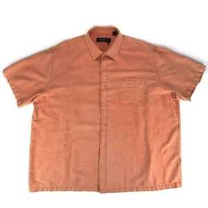Nat Nast Faded Orange Button Down Men's XXL